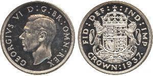 1 Corona Regno Unito (1922-) Argento Giorgio VI (1895-1952)