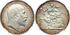 1 Corona Regno Unito di Gran Bretagna e Irlanda (1801-1922) Argento Edoardo VII (1841-1910)