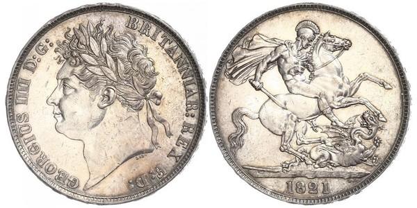 1 Corona Regno Unito di Gran Bretagna e Irlanda (1801-1922) Argento Giorgio IV (1762-1830)