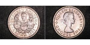 1 Corona Southern Rhodesia (1923-1980) Argento Elisabetta II (1926-)