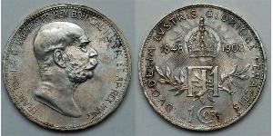 1 Corona Österreich-Ungarn (1867-1918) Silber Franz Joseph I (1830 - 1916)
