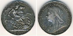 1 Crown 英国 銀