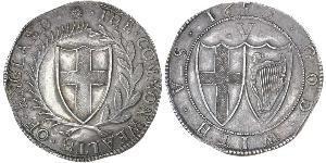 1 Crown 英格兰联邦 銀