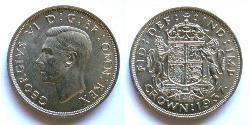1 Crown United Kingdom (1922-) 銀 乔治六世 (1895-1952)