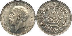 1 Crown United Kingdom (1922-) 銀 乔治五世  (1865-1936)