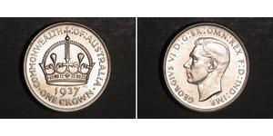 1 Crown Ôstralie (1788 - 1939) Argent George VI (1895-1952)