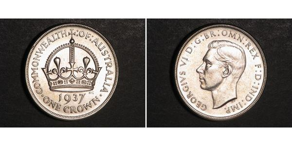 1 Crown Ôstralie (1788 - 1939) Argent George VI (1895-1952)