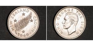 1 Crown Nouvelle-Zélande Argent George VI (1895-1952)