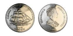 1 Crown Tristan da Cunha Copper/Nickel Elizabeth II (1926-)