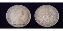 1 Crown Turks and Caicos Islands Copper/Nickel Elizabeth II (1926-)