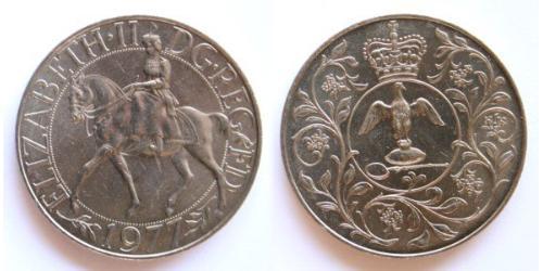 1 Crown United Kingdom (1922-) Copper/Nickel Elizabeth II (1926-)