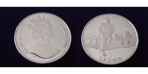 1 Crown Île de Man Cuivre/Nickel Elizabeth II (1926-)