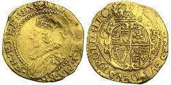 1 Crown Königreich England (927-1649,1660-1707) Gold Karl I (1600-1649)