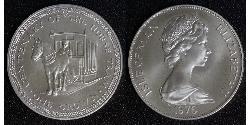 1 Crown Isle of Man Kupfer/Nickel Elizabeth II (1926-)