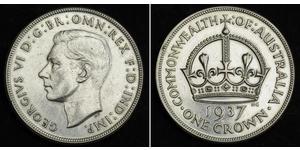 1 Crown Australia (1788 - 1939) Plata Jorge VI (1895-1952)