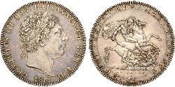 1 Crown Reino Unido de Gran Bretaña e Irlanda (1801-1922) Plata Jorge III (1738-1820)