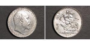 1 Crown Reino Unido de Gran Bretaña e Irlanda (1801-1922) Plata Eduardo VII (1841-1910)