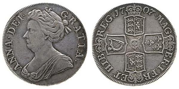 1 Crown Reino de Inglaterra (927-1649,1660-1707) Plata Ana de Gran Bretaña(1665-1714)