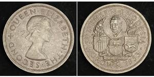 1 Crown Southern Rhodesia (1923-1980) Plata Isabel II (1926-)
