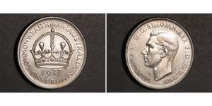 1 Crown Australien (1788 - 1939) Silber Georg VI (1895-1952)