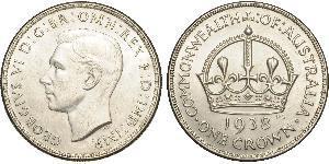 1 Crown Australien (1788 - 1939) Silber Georg VI (1895-1952)