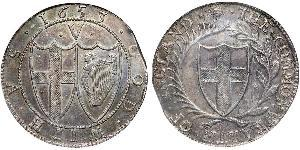 1 Crown Commonwealth of England (1649-1660) Silber