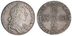 1 Crown Königreich England (927-1649,1660-1707) Silber Wilhelm III (1650-1702)