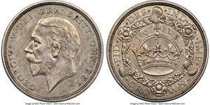 1 Crown Vereinigtes Königreich (1922-) Silber George V (1865-1936)