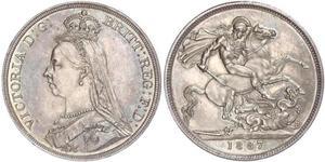 1 Crown Vereinigtes Königreich von Großbritannien und Irland (1801-1922) Silber Victoria (1819 - 1901)