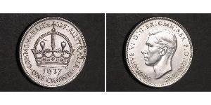 1 Crown Australia (1788 - 1939) Silver George VI (1895-1952)