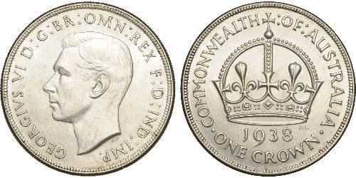 1 Crown Australia (1788 - 1939) Silver George VI (1895-1952)