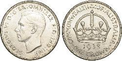 1 Crown Australia (1939 - ) Silver George VI (1895-1952)