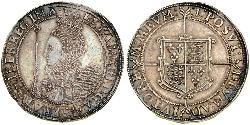 1 Crown Kingdom of England (927-1649,1660-1707) Silver Elizabeth I (1533-1603)