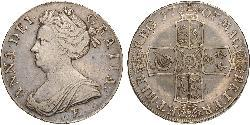 1 Crown Kingdom of England (927-1649,1660-1707) Silver Anne, Queen of Great Britain (1665-1714)