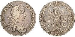 1 Crown Kingdom of England (927-1649,1660-1707) Silver Charles II (1630-1685)