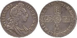 1 Crown Kingdom of England (927-1649,1660-1707) Silver William III (1650-1702)