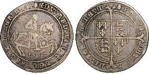 1 Crown Kingdom of England (927-1649,1660-1707) Silver Edward VI  (1537-1553)
