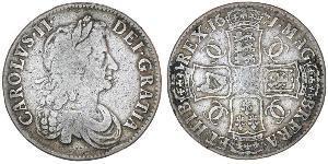 1 Crown Kingdom of England (927-1649,1660-1707) Silver Charles II (1630-1685)