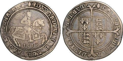 1 Crown Kingdom of England (927-1649,1660-1707) Silver Edward VI  (1537-1553)