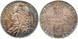 1 Crown Kingdom of Great Britain (1707-1801) Silver George II (1683-1760)