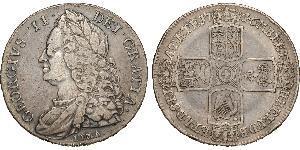 1 Crown Kingdom of Great Britain (1707-1801) Silver George II (1683-1760)