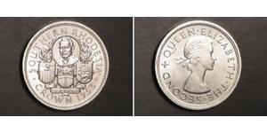1 Crown Southern Rhodesia (1923-1980) Silver Elizabeth II (1926-)
