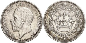 1 Crown United Kingdom (1922-) Silver George V of the United Kingdom (1865-1936)