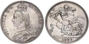 1 Crown United Kingdom of Great Britain and Ireland (1801-1922) Silver Victoria (1819 - 1901)