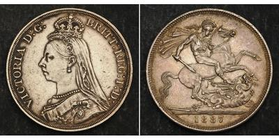 1 Crown 1887-1889 United Kingdom of Great Britain and