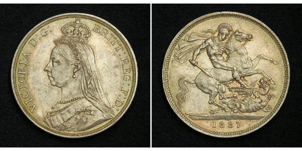 1 Crown United Kingdom of Great Britain and Ireland (1801-1922) Silver Victoria (1819 - 1901)