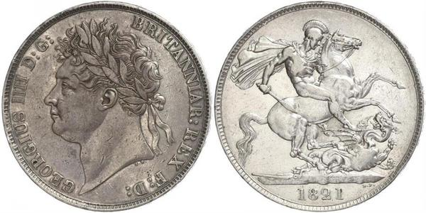 1 Crown United Kingdom of Great Britain and Ireland (1801-1922) Silver George IV (1762-1830)