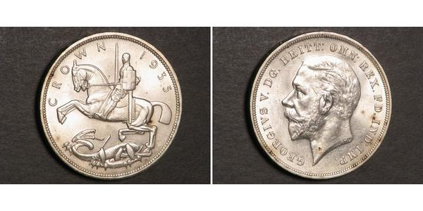 1 Crown United Kingdom of Great Britain and Ireland (1801-1922) Silver George V of the United Kingdom (1865-1936)