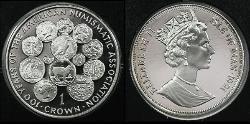 1 Crown Isle of Man  Elizabeth II (1926-)