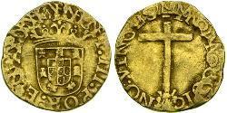 1 Cruzado  Reino de Portugal (1139-1910) Oro John III of Portugal (1502-1557)